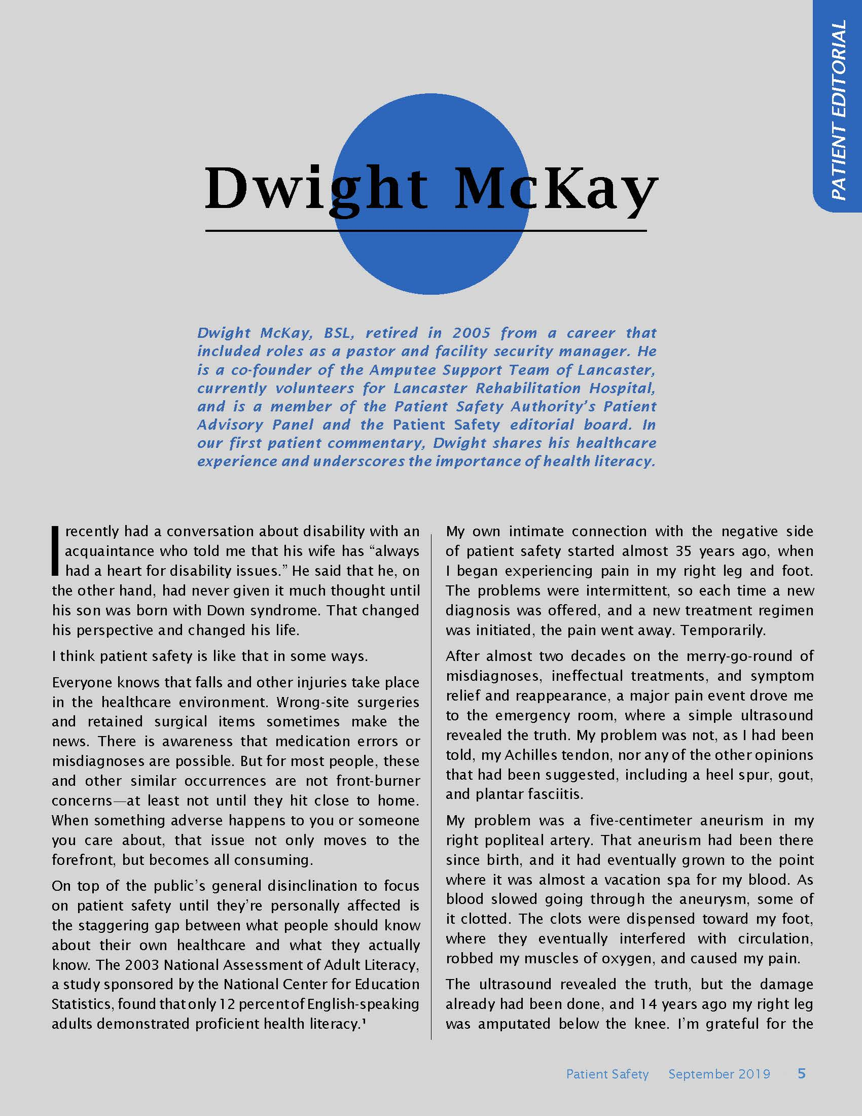 Dwight McKay patient commentary