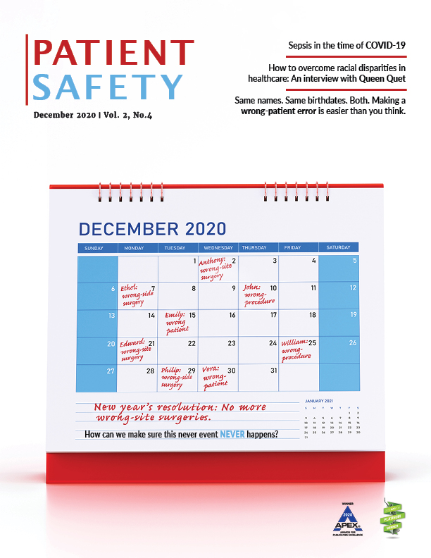 View Vol. 2 No. 4 (2020): Patient Safety-December 2020